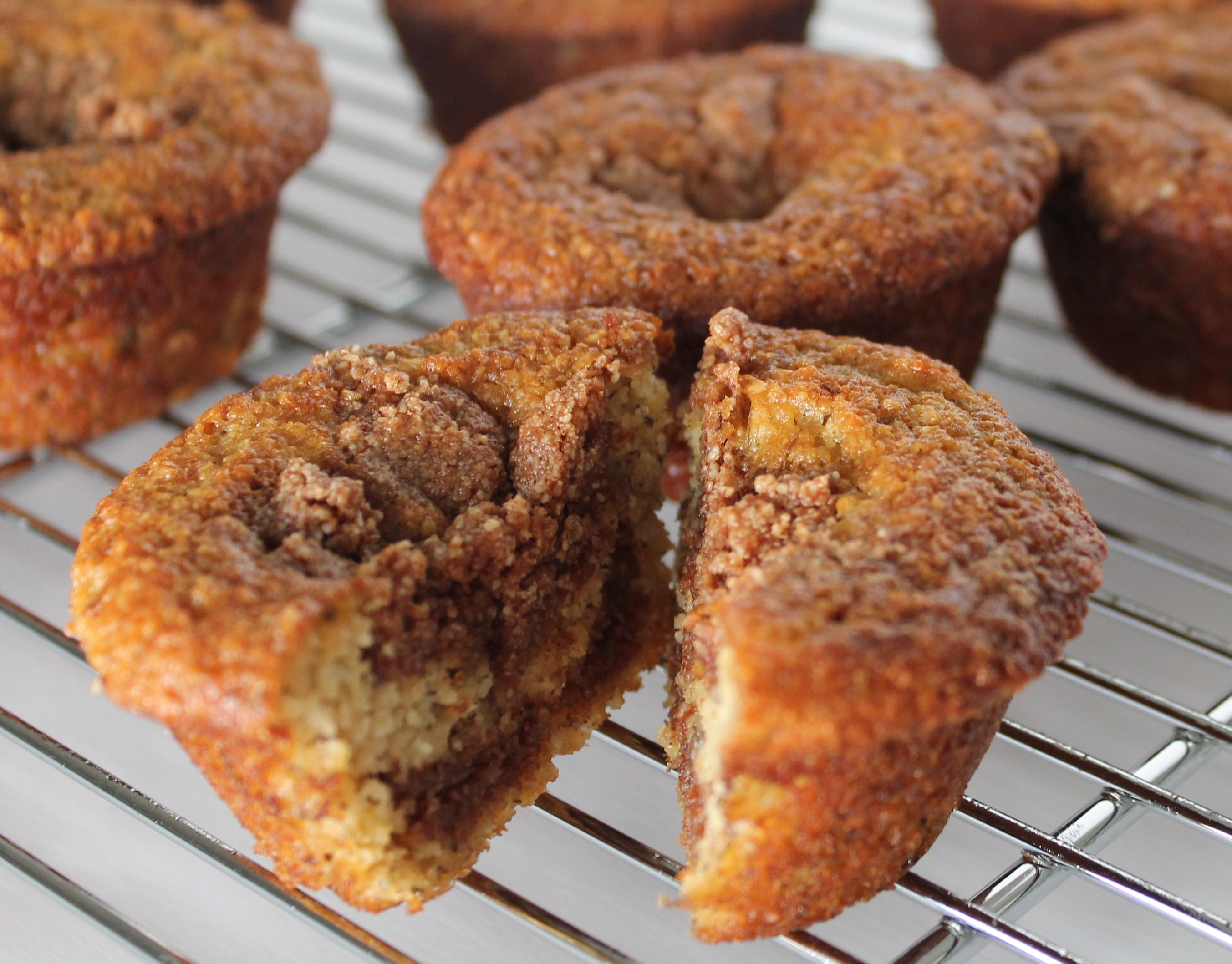 muffins are fluffy, moist and have the perfect amount of cinnamon ...