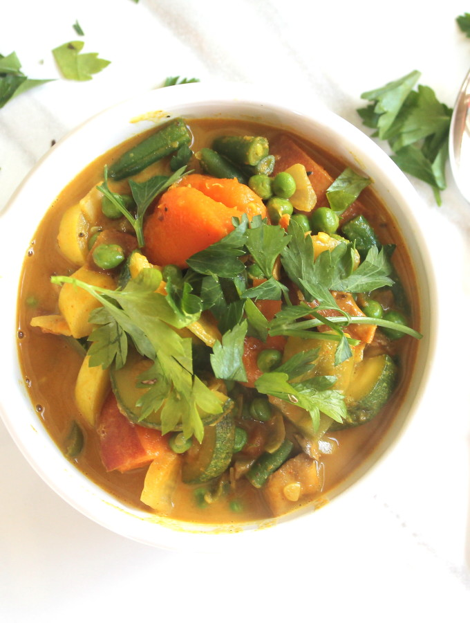 mixed vegetable coconut curry