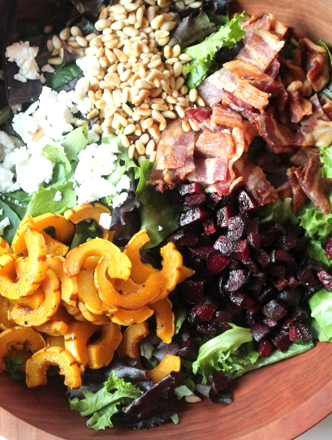 fall superfood salad & apple cider vinaigrette