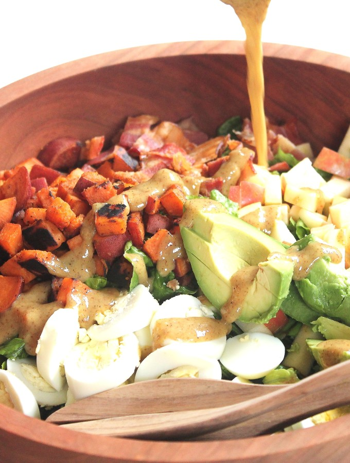fall cobb salad & homemade honey mustard dressing