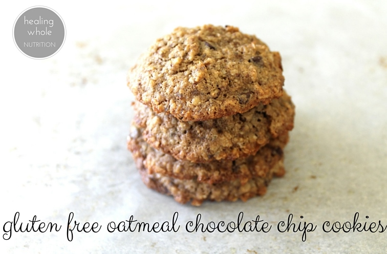 gluten free oatmeal chocolate chip cookies - healing whole nutrition