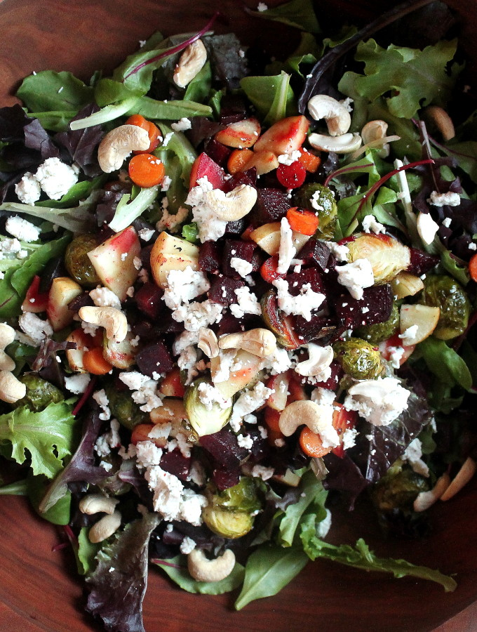 roasted winter veggie salad