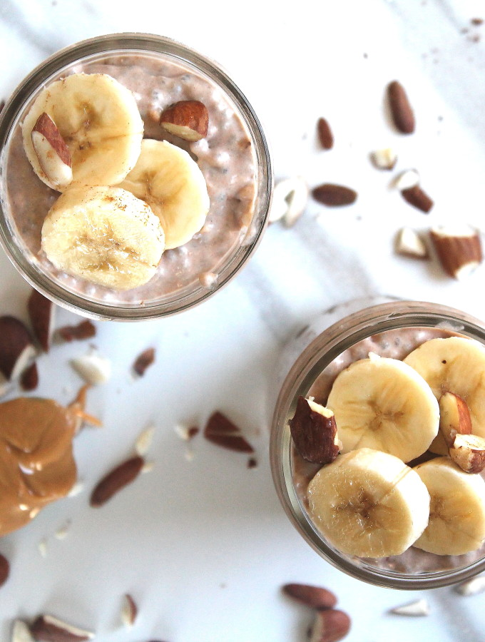 chocolate peanut butter chia pudding (vegan)