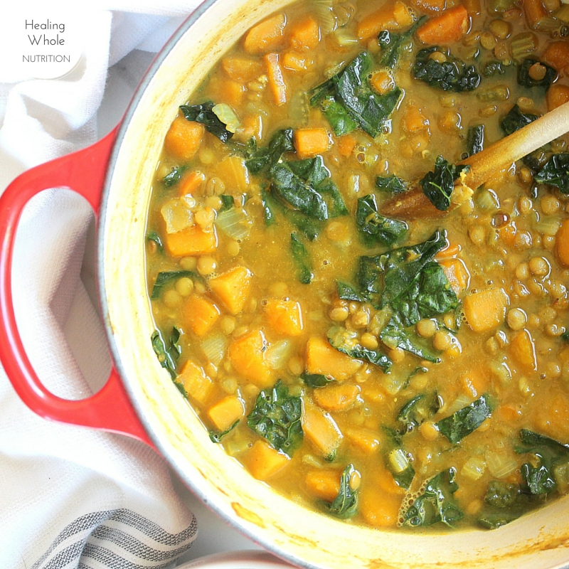 Healthy, flavorful and full of detoxing ingredients, this lentil soup is a new favorite in our house.