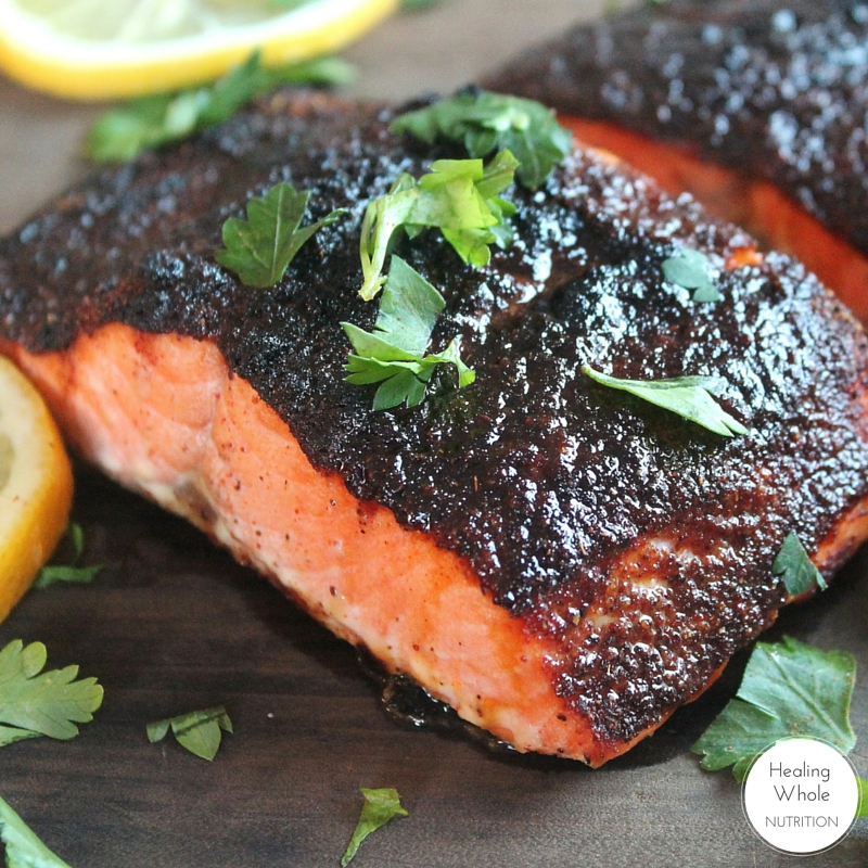 You won't want to stop eating this salmon and it's all thanks to the sweet and spicy spice rub.