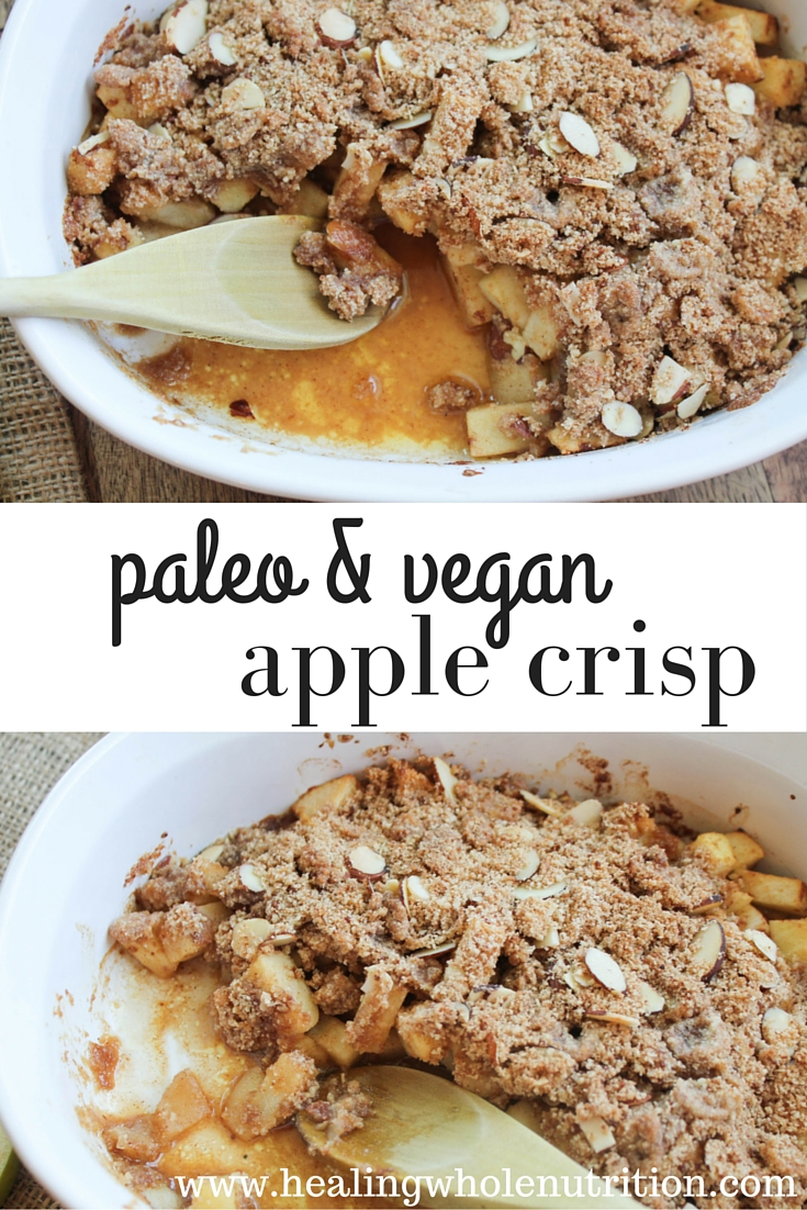 Healthy, easy, apple crisp! Gluten, grain and refined-sugar free, but ...