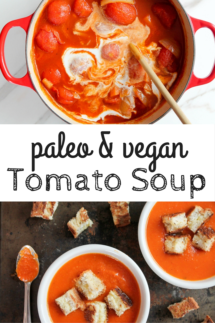 paleo tomato soup & gf grilled cheese croutons - healing whole ...