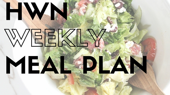 meal plan & grocery list – week 7