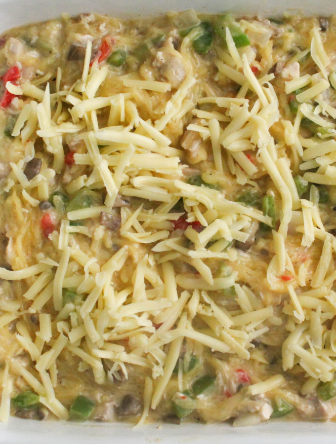pioneer woman's chicken spaghetti – lightened up