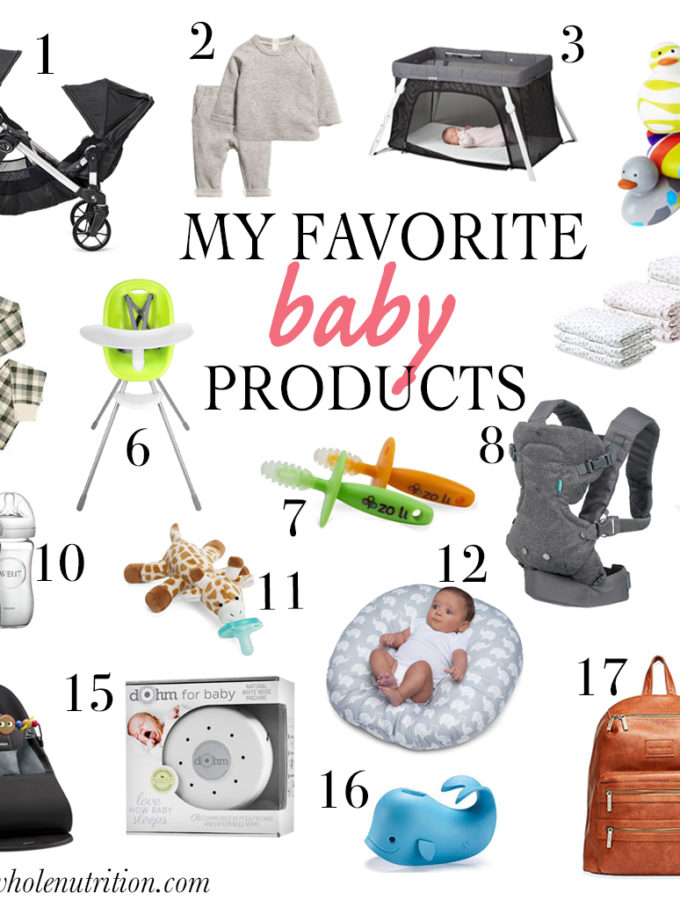 my favorite products for baby